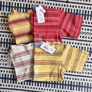 NWT Lot Of 4 Boy's Naartjie Sz 4 Striped T-Shirts